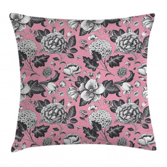 Vintage Garden Flowers Pillow Cover