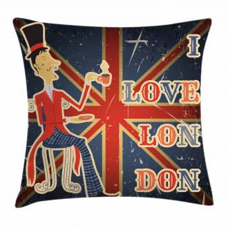 London English Man Flag Pillow Cover