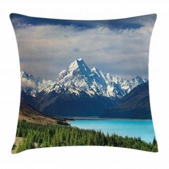 Mount Cook Pukaki Lake Pillow Cover