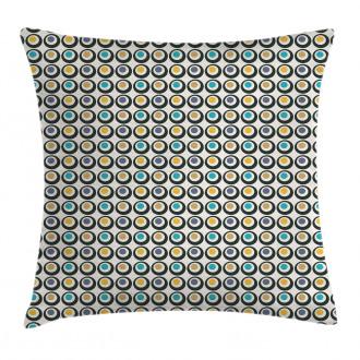 Bold Circles Polka Dots Pillow Cover