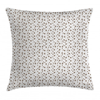 Big Small Drops Spots Pillow Cover