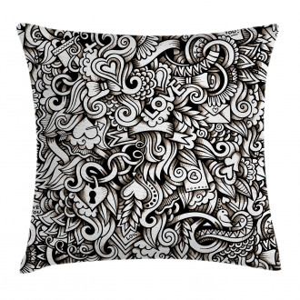 Winged Hearts Pillow Cover