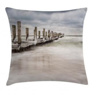 Groyne Zingst Germany Pillow Cover