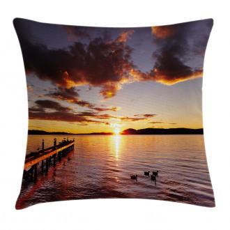 Lake Rotorua at Sunrise Pillow Cover