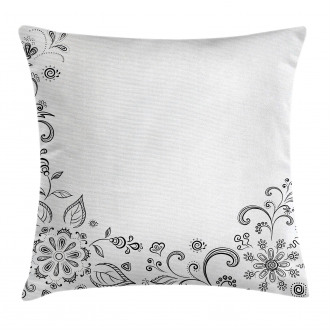Botanical Sketchy Bouquet Pillow Cover