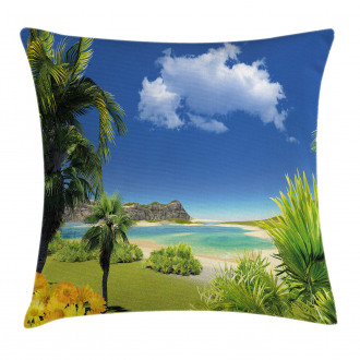 Paradise Palms Island Pillow Cover