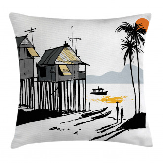 Fishing Village Malay Pillow Cover