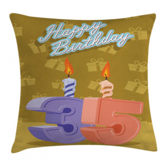 Artistic Candles Pillow Cover