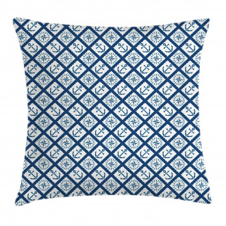 Anchor Windrose Icons Pillow Cover