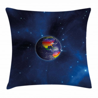 Earth LGBT Colors Pillow Cover