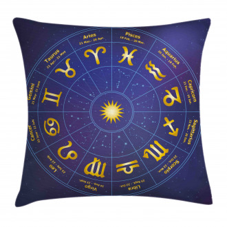 Horoscope Birth Dates Pillow Cover