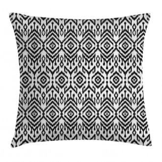 Scribble Ikat Art Pillow Cover