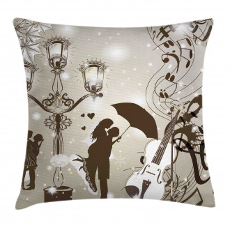 Kissing Couples Music Pillow Cover