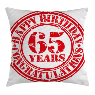 Sixty Five Years Pillow Cover