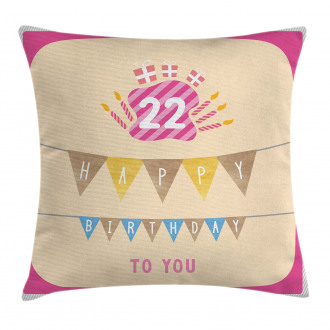 Candies Cake Candles Pillow Cover
