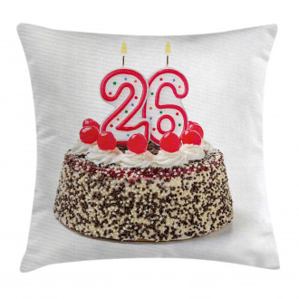 Yummy Cake Candles Pillow Cover