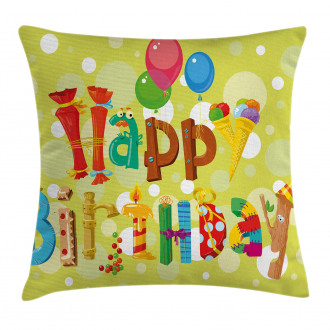 Cute Ice Cream Candies Pillow Cover