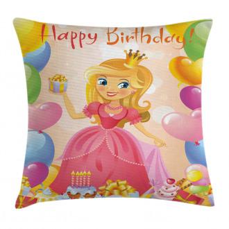 Girl Princess Themed Pillow Cover