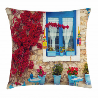 Mediterranean House Pillow Cover
