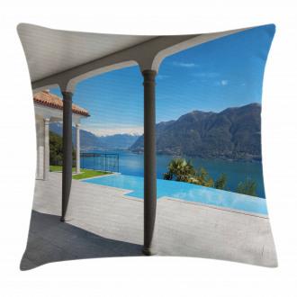 Lake Maggiore Alps View Pillow Cover