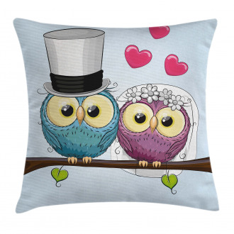 Cartoon Married Couple Fun Pillow Cover