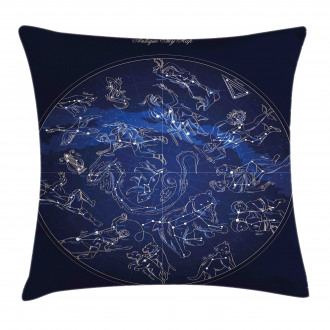 Antique Sky Map Pillow Cover