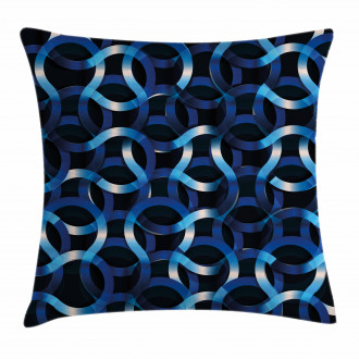 Curvy Modern Shapes Pillow Cover