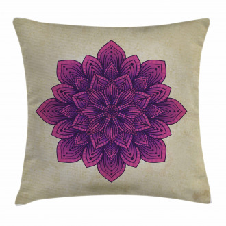 Purple Retro Motif Pillow Cover