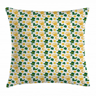 Happy St. Patrick's Day Pillow Cover