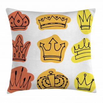 Majestic Symbol Crowns Pillow Cover