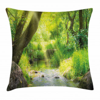 Stream Cascade Tropical Pillow Cover