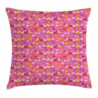 Animal Train Cute Theme Pillow Cover