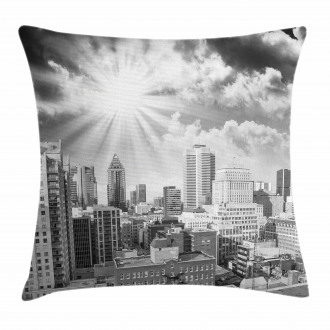 Aerial Montreal Pillow Cover