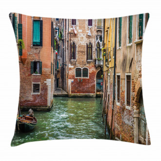 Famous Streets on Water Pillow Cover