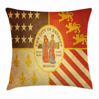 Old Symbol Rusty Look Pillow Cover