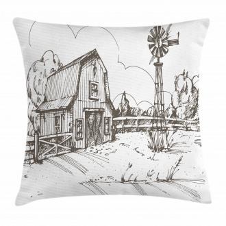 Rustic Farmhouse Barn Pillow Cover