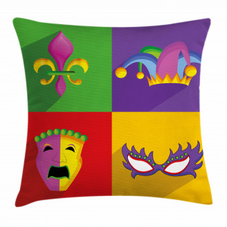 Colorful Frame Icons Pillow Cover