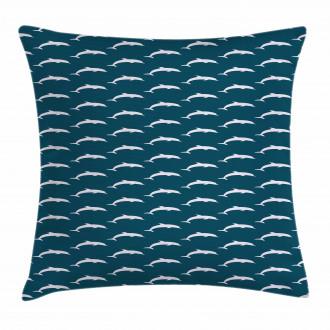 Aquatic Mammal Pattern Pillow Cover