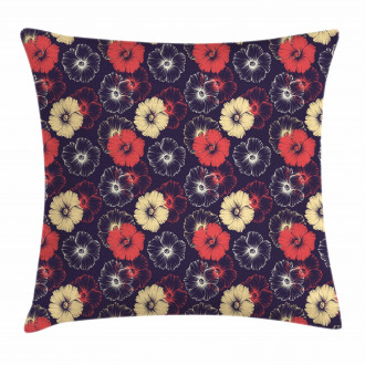 Exotic Hollyhock Flower Pillow Cover