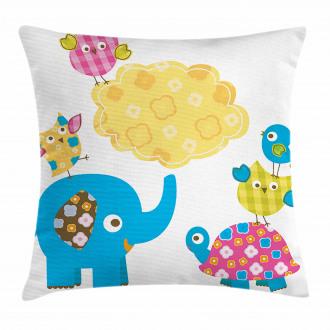 Cartoon Happy Wildlife Pillow Cover