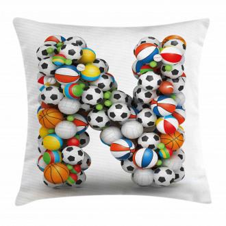 Various Balls Capital Pillow Cover