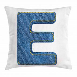 Denim Blue Jeans E Pillow Cover