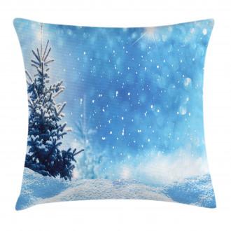 Frozen Pine Snowflakes Pillow Cover