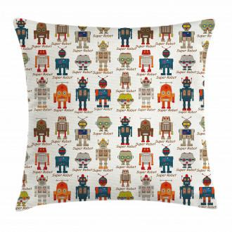 Super Robot Figures Pillow Cover