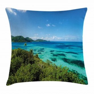 Green Trees Clear Water Pillow Cover