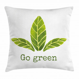 Eco Concept Green Leaves Pillow Cover