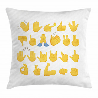 Hand Signals Thumbs Down Pillow Cover
