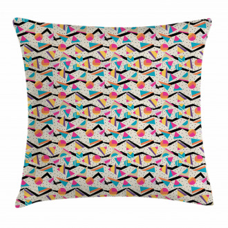 80s Memphis Geometrical Pillow Cover
