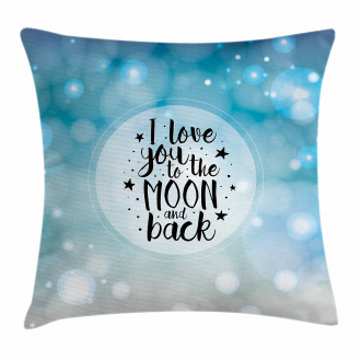 Stars Typography Dreamy Pillow Cover