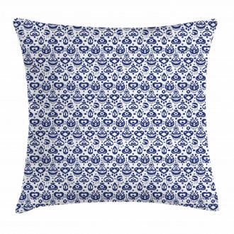 Vintage Asian Ikat Pillow Cover